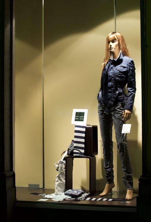 Download Window store at night stock photo. Image of fashion, jacket - 4482746