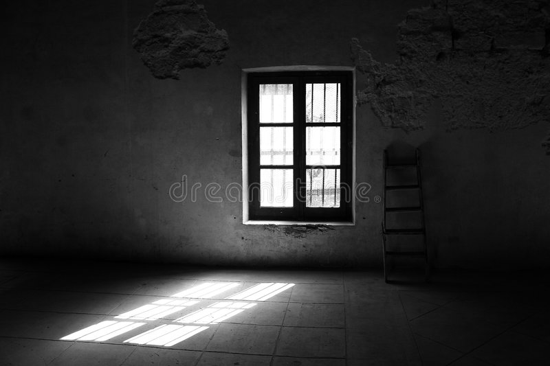 Window and Straight stock image