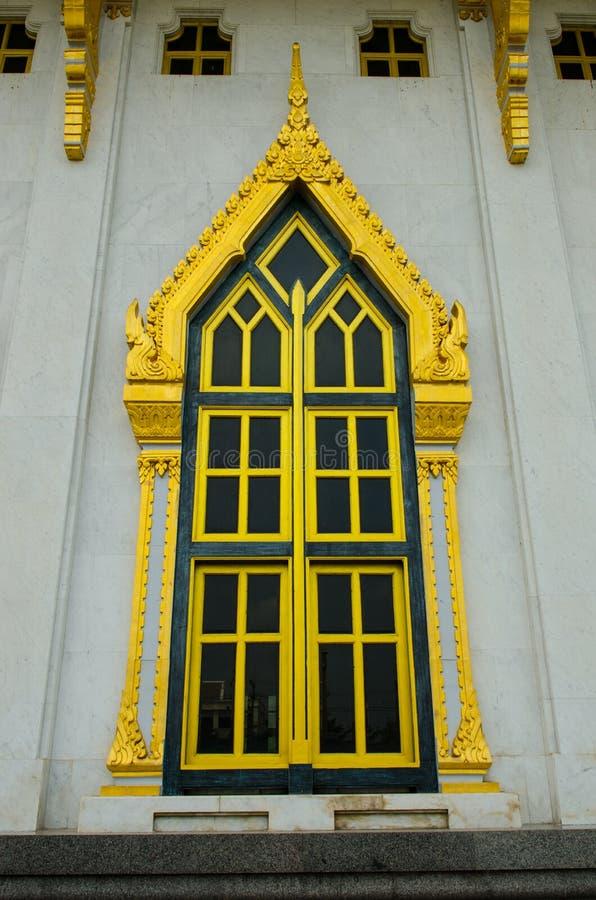 Window temple. Thailand,Wat Sothon Wararam Worawihan royalty free stock images