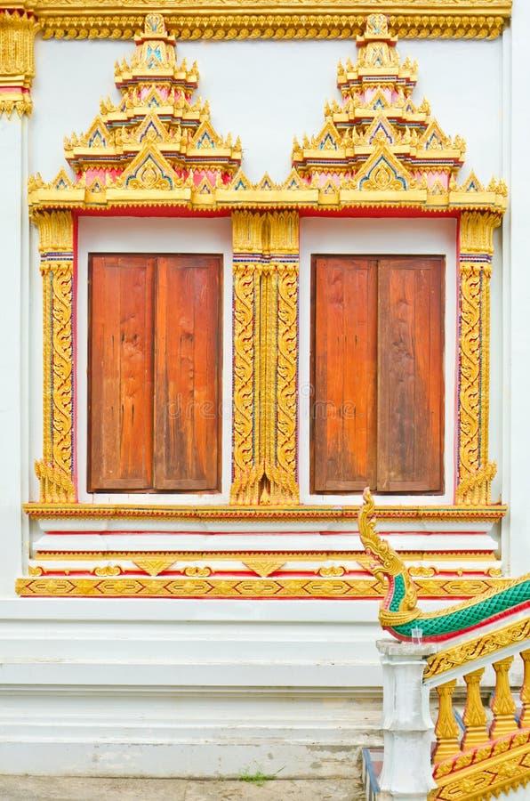 Window Thai Temple Stock Photography