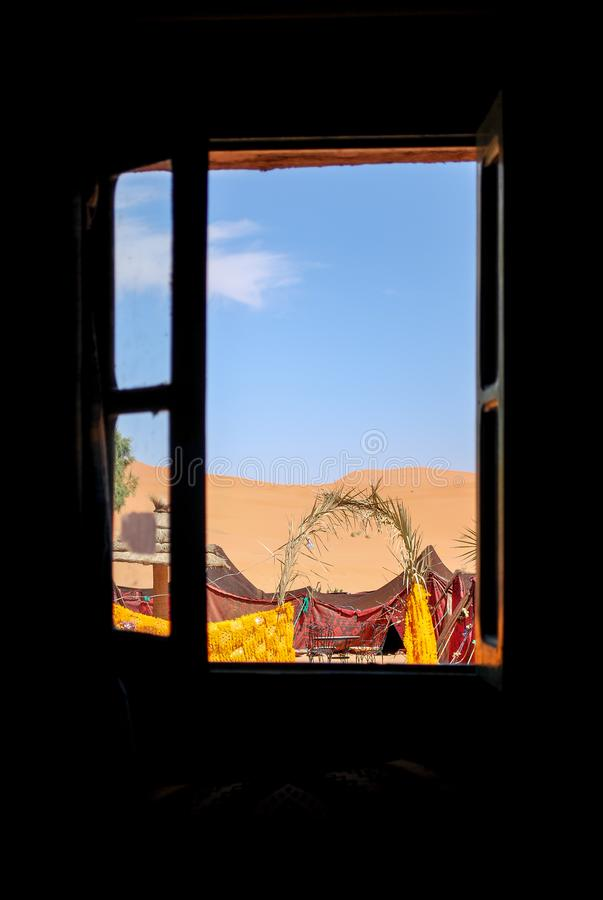 A window to the desert royalty free stock photo