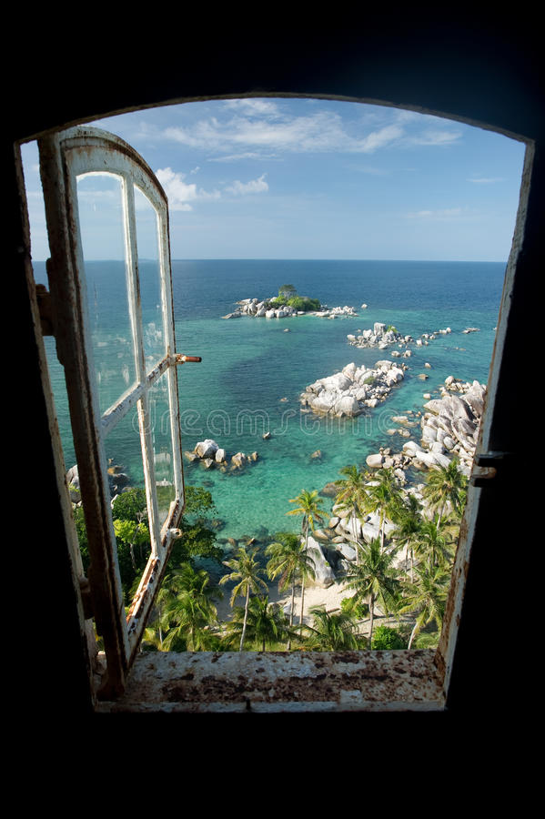Download Window to paradise stock photo. Image of indonesia, travel - 15567262