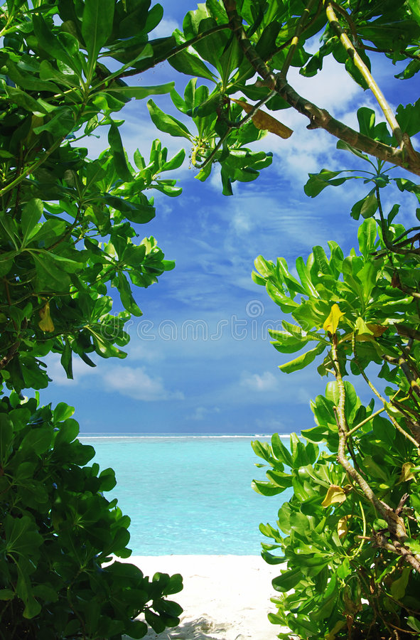Window to paradise royalty free stock photos