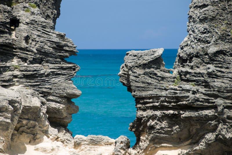 Window To Rocky Beach Stock Image