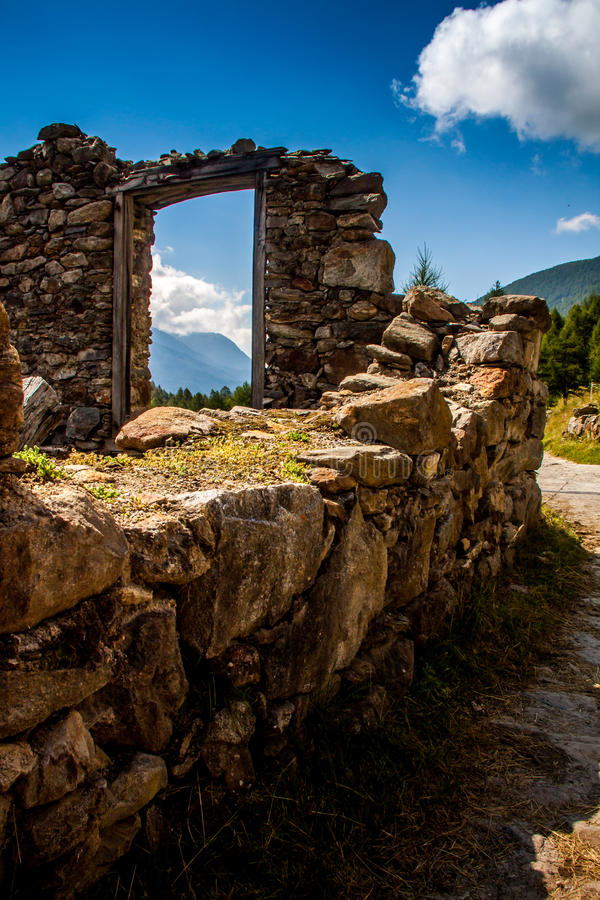 Window on the valley. Window on the valler in Italy royalty free stock image