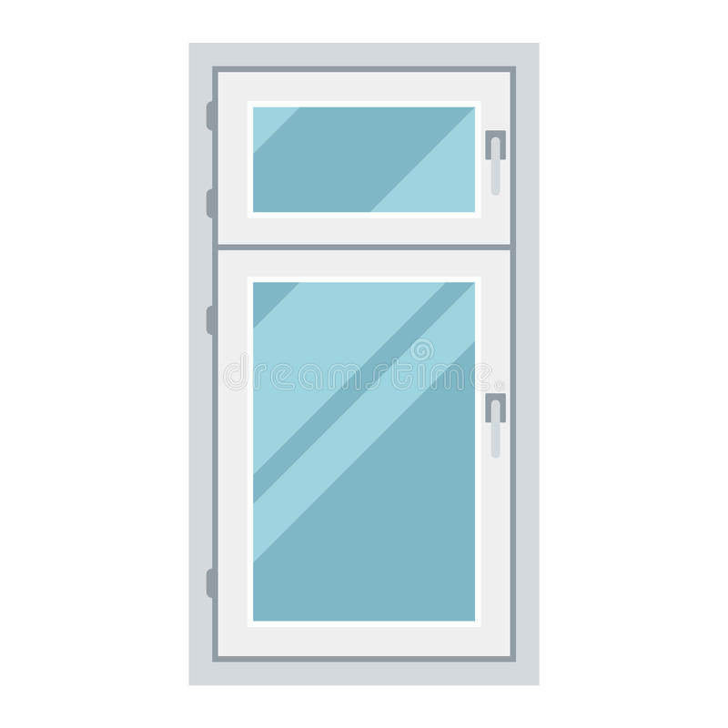 Window vector element isolated. House window vector element isolated on white background. Window element flat vector style. Vector window frame isolated on white royalty free illustration