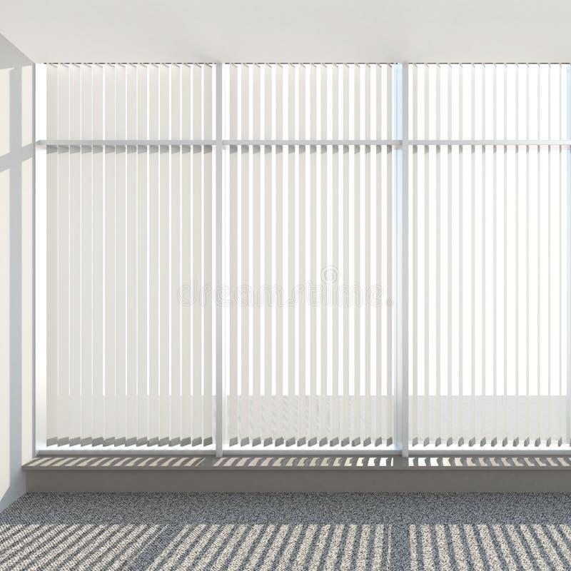 Window vertical fabric blinds. 3d render royalty free illustration