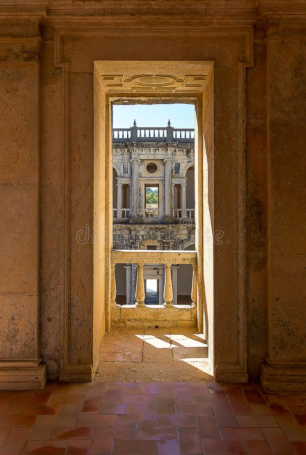 Convent of Christ, Portuguese Historical Convent and Castle from 1520 royalty free stock images