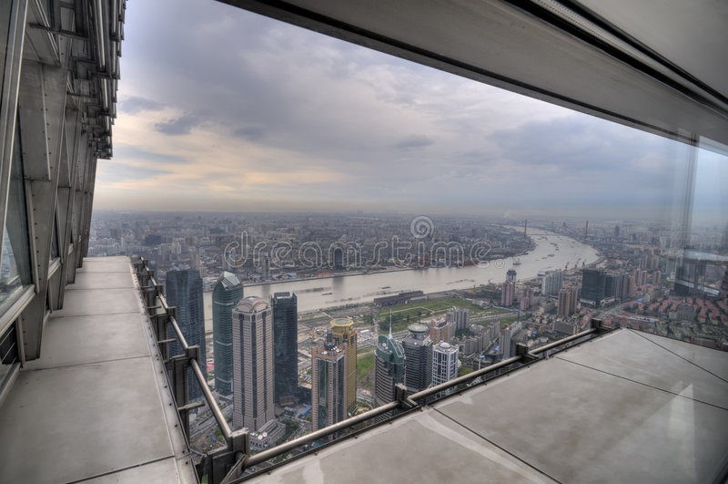 Window View of Shanghai stock photo