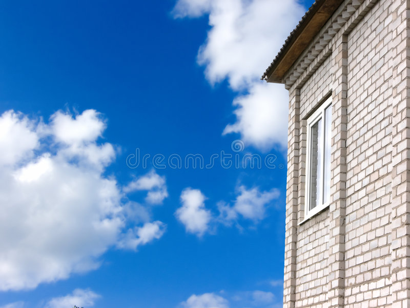 Download Window in a wall stock photo. Image of property, roof - 2616098