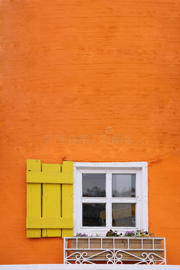 Window on wall stock images