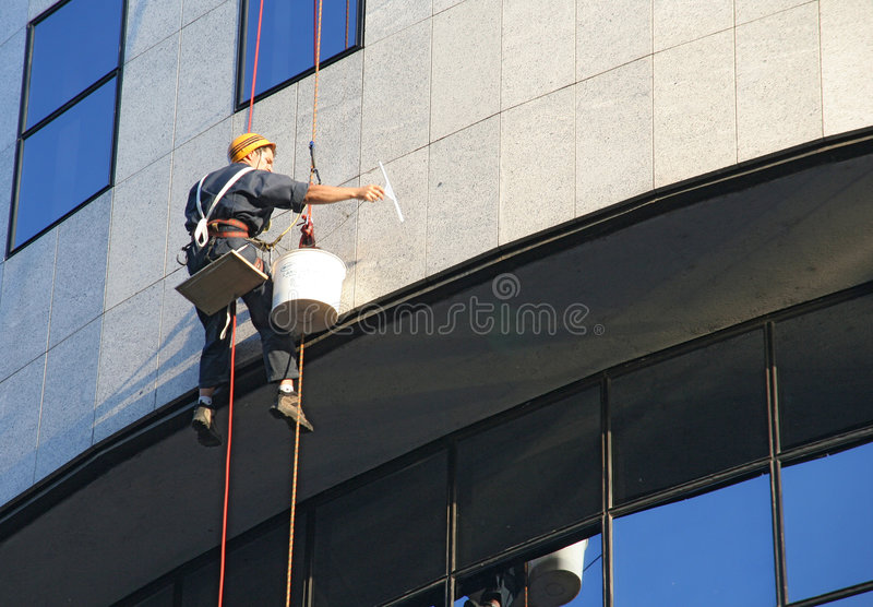 Download Window washer stock image. Image of wash, hanging, work - 878729