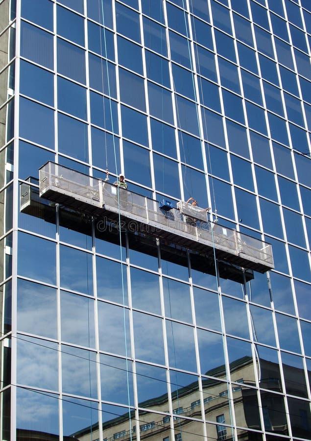Download Window Washers stock image. Image of danger, daytime, horizontal - 225145