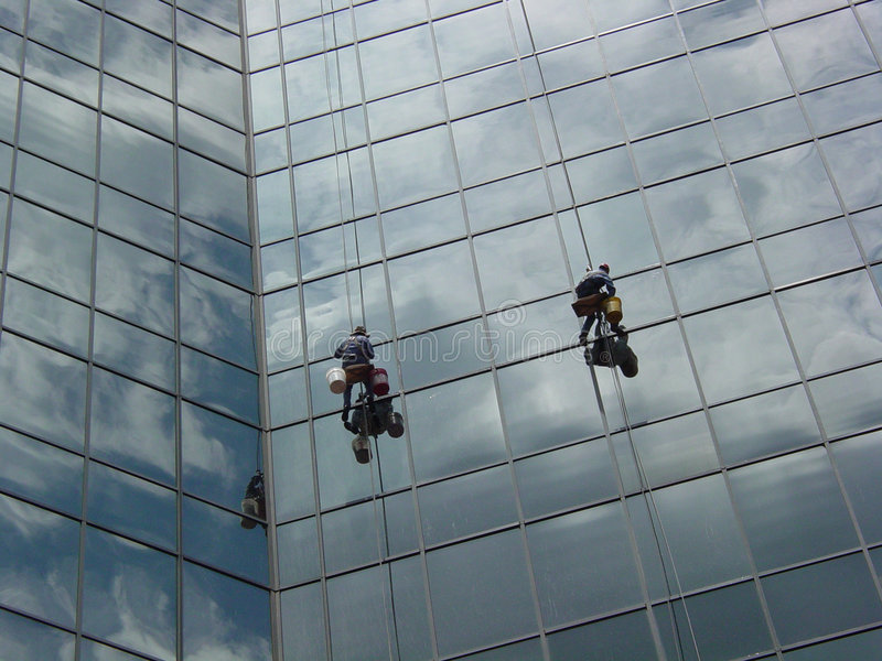 Download Window Washers Middle 2 Stock Photo - Image: 519620