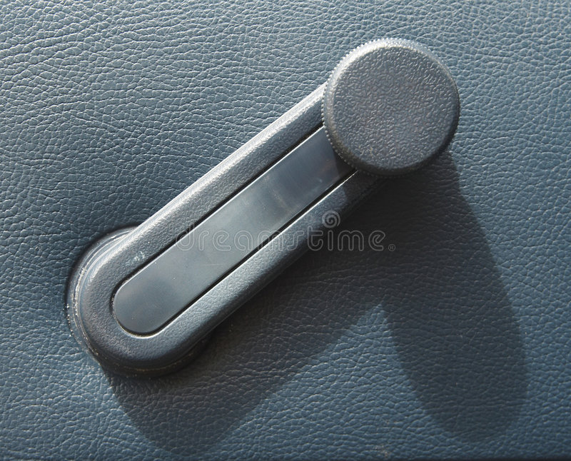 Window winder in a car stock image