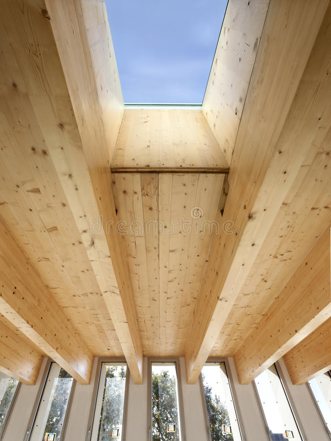 Window, wooden beams stock images