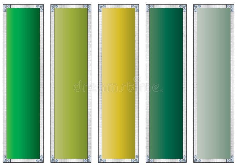windowed färgrikt för baner vektor illustrationer