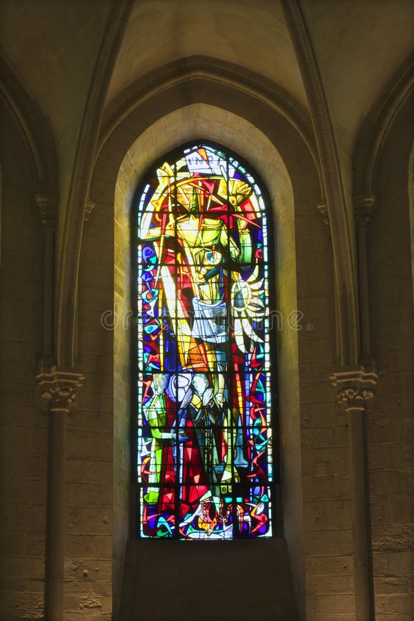 Windowpane From St. Peters Church In Paris Stock Images