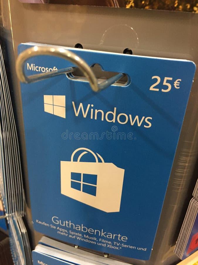Windows礼品券 库存图片