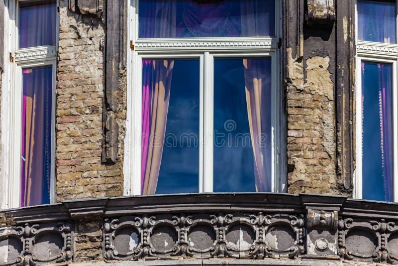 Windows à Budapest image stock