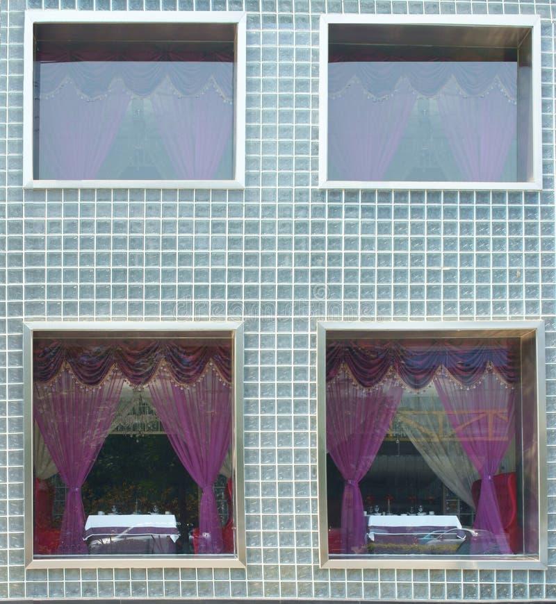 Windows κουρτινών στοκ εικόνες με δικαίωμα ελεύθερης χρήσης