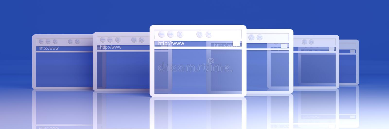 Windows ξεφυλλιστή διανυσματική απεικόνιση