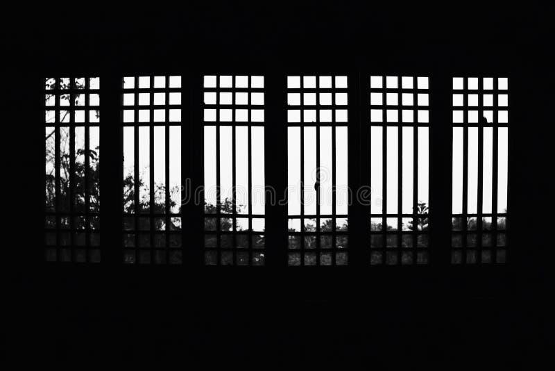 Windows на здании китайского стиля стоковые изображения