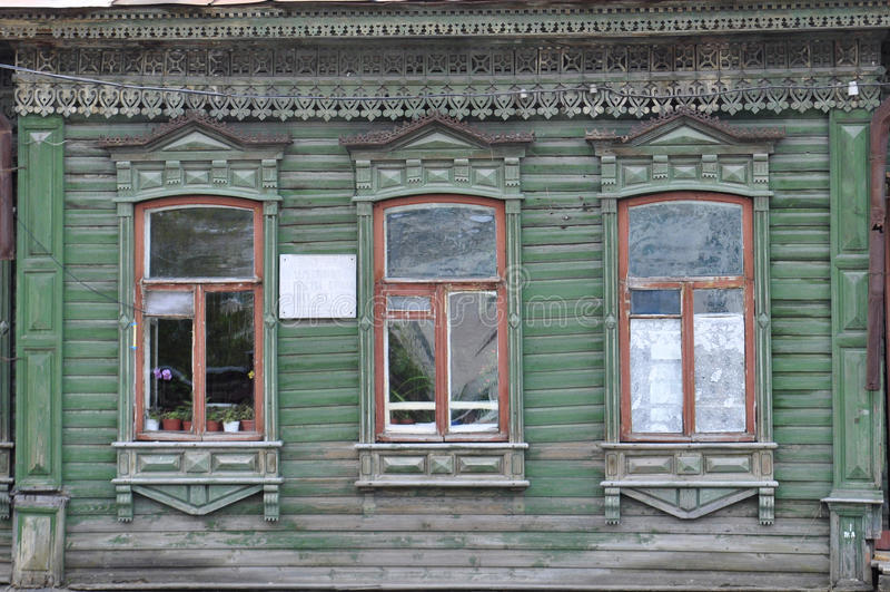 Download Windows дома купца S S Brovtsyn на Hokhryako Стоковое Фото - изображение насчитывающей историческо, деревянно: 40589540