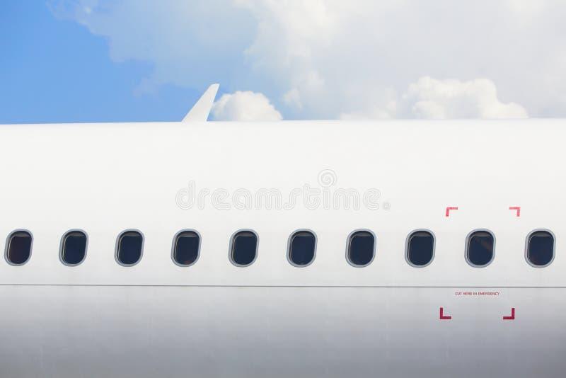 Windows самолета стоковые изображения
