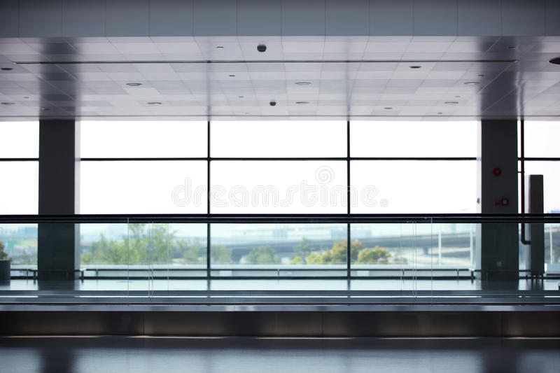Windows. In a modern hall royalty free stock photos
