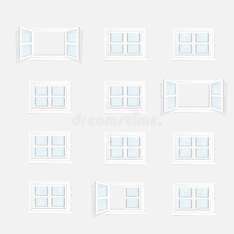Download Windows ilustracja wektor. Ilustracja złożonej z drzwi - 57653558