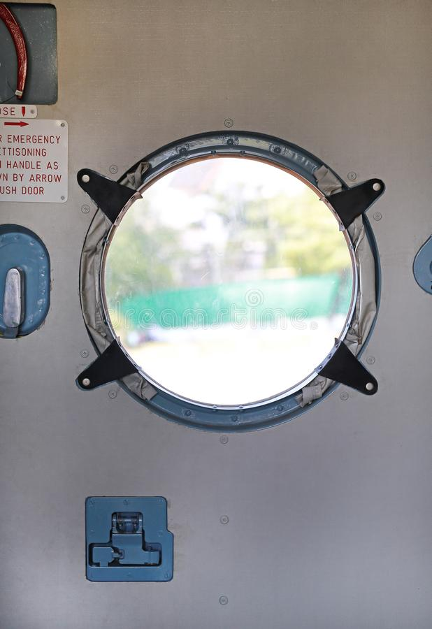 Windows of Aircraft`s fuselage.  royalty free stock image