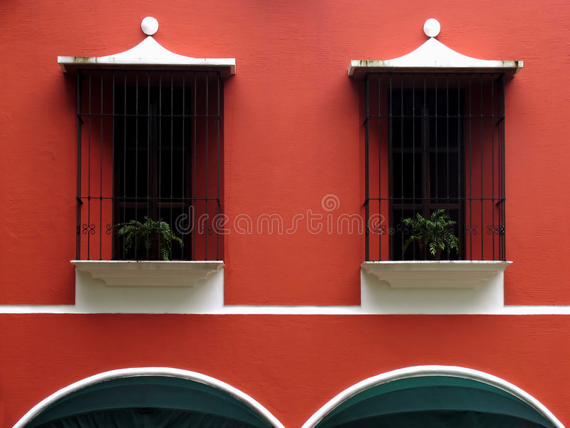 Windows and arches royalty free stock photography