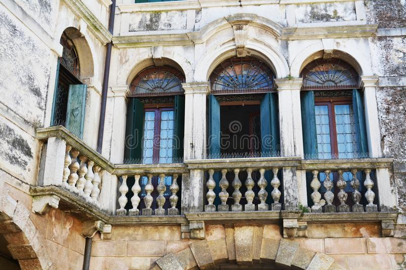 Windows in Asolo, Italy royalty free stock images