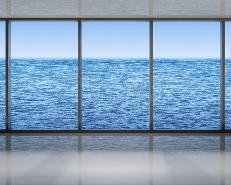 Windows auf dem Meer lizenzfreie abbildung