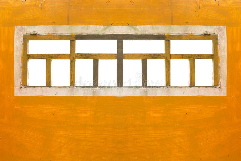Windows auf orange Wand stockbild