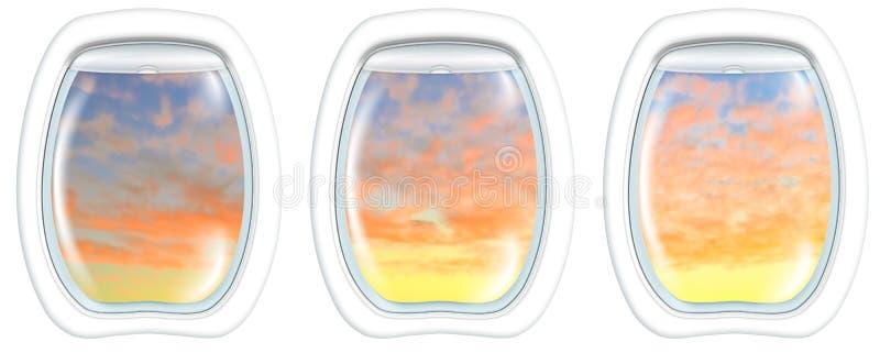Windows auf Perth-Sonnenuntergang lizenzfreie stockfotos