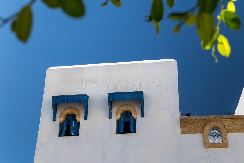 Windows av ett tunisian hus royaltyfri fotografi