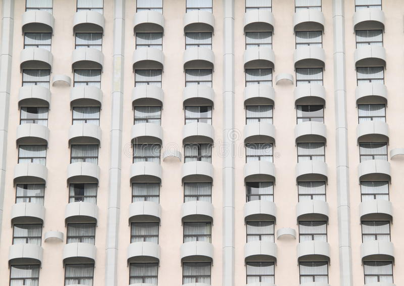 Windows with balconies stock images