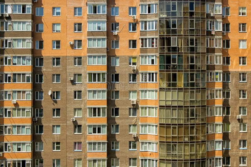 Windows and balconies of an apartment building. The windows and balconies of an apartment building royalty free stock images