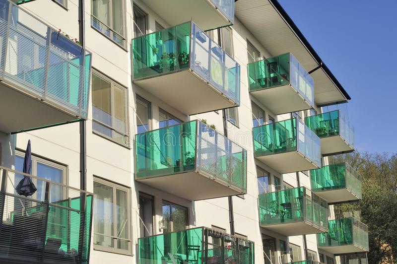 Windows And Balconies Royalty Free Stock Images