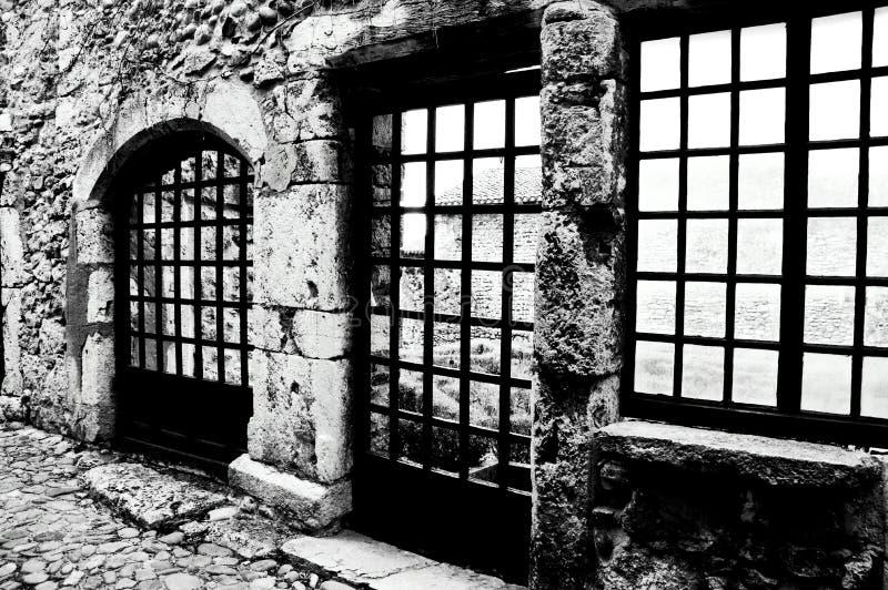 Windows black and white royalty free stock photos