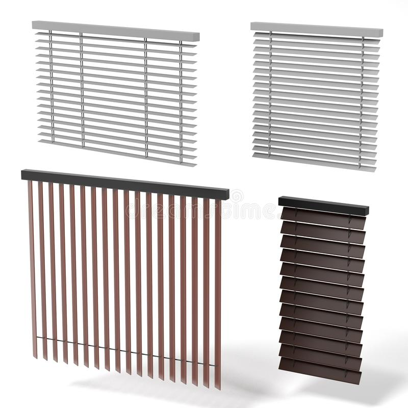 Windows blinds stock illustration