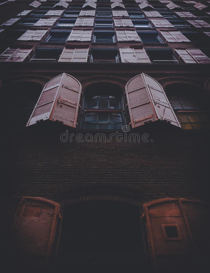 Windows on building exterior royalty free stock images