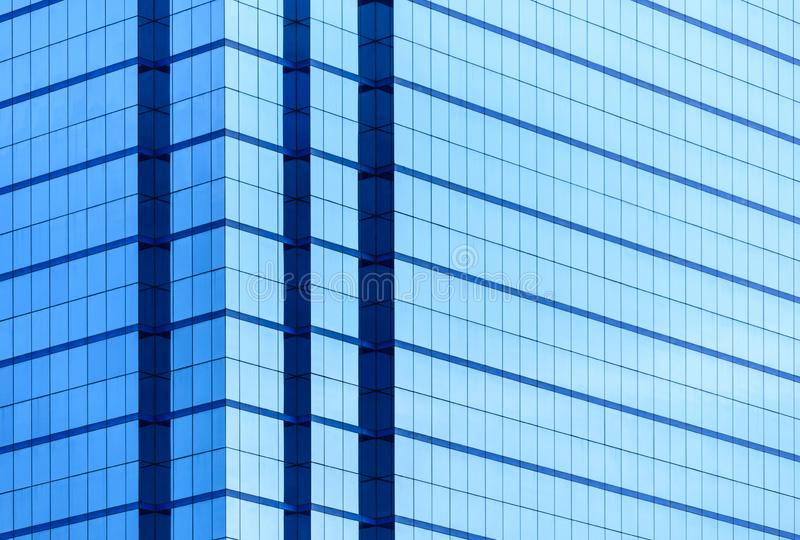 Windows of business building with a lot of mirror with reflection. royalty free stock image