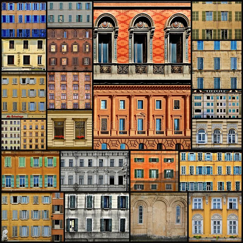 Windows Collage. A collage of photographs of windows with different architectural styles from various places in Europe royalty free stock images