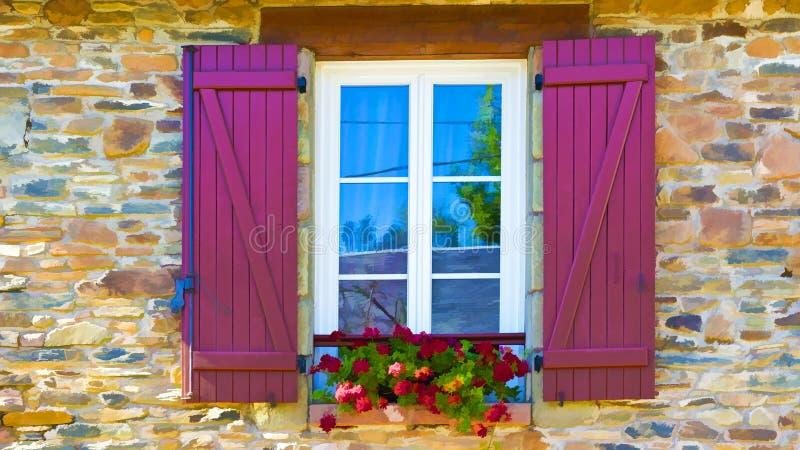 Windows con las flores foto de archivo libre de regalías