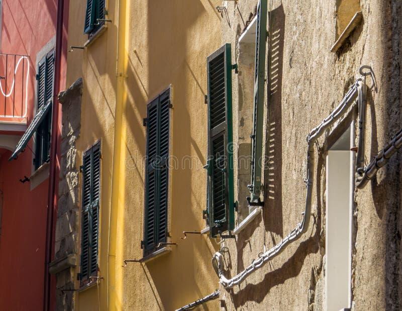 Windows Corniglia, Cinque Terre fotografía de archivo