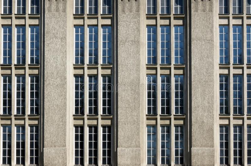 Windows, Croatian national state archives building in Zagreb. Croatia royalty free stock photography
