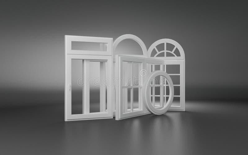 Windows 3d illustrazione di stock